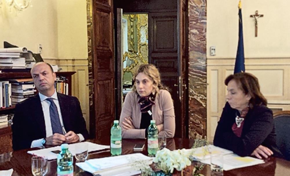 FOTO INCONTRO MINISTRI ALFANO E MADIA_1000px