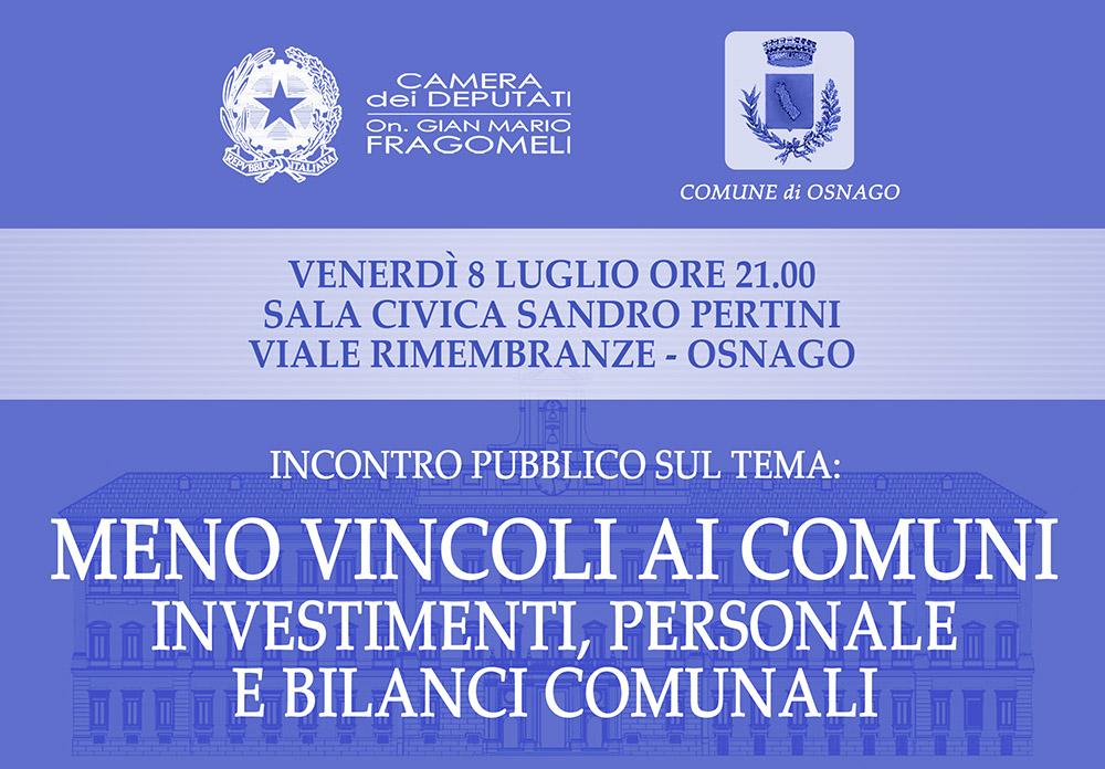 Banner incontro vincoli e investimenti Comuni_1000px